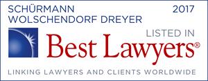 Best Lawyers 2017 - Schürmann Wolschendorf Dreyer