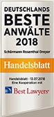 Deutschlands beste Anwälte 2018: Ranking von Best Lawyers und Handelsblatt