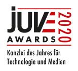 JUVE Awards 2020: Kanzlei des Jahres für Technologie und Medien